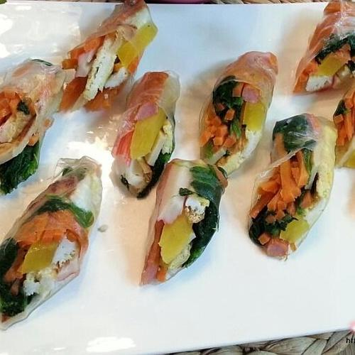 남은 김밥 재료 월남쌈 만드는법