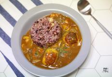 감칠맛 폭발 양파와 구운계란을 더한 카레 덮밥 만들기. 한그릇요리.