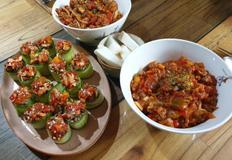 오이카나페+토마토파스타를 한번에♡저염식 다이어트식단♡