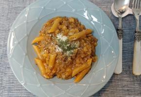 볼로네제 치즈 숏 파스타