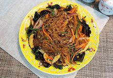 2그릇 순삭 가능!! 간단하게 매콤 잡채 만드는 법, 별미 잡채, 잡채밥, 채식