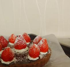 딸기초코타르트 만들기 (타르트 3호)