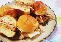 모닝빵으로 미니 햄버거 깔끔한 맛
