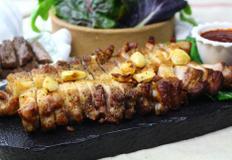 삼겹살데이엔 통삼겹살 구이와 소고기스테이크! 에어프라이어 요리.