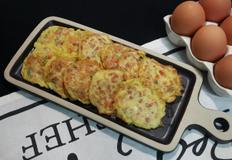 냉장고속 짜투리 재료 활용 햄,크래미 야채 계란전~*