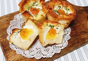 초간단 2가지 재료만있으면 ok 식빵계란빵 만들기