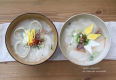 간단 점심메뉴,초간단 떡만둣국, 사골떡국 만드는법.