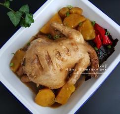 김수미 닭찜 -닭한마리 간장찜닭