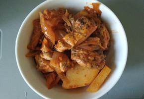 밥솥으로 만든 무수분 닭고기 묵은지찜
