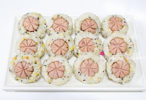 도시락메뉴로 좋은 소시지주먹밥 / 소세지꽃주먹밥 만드는 법