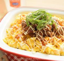 떡갈비마요덮밥 한그릇요리로 딱 좋아!