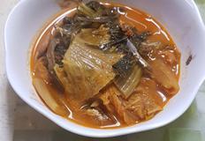 맨 김치찌개 끓이기