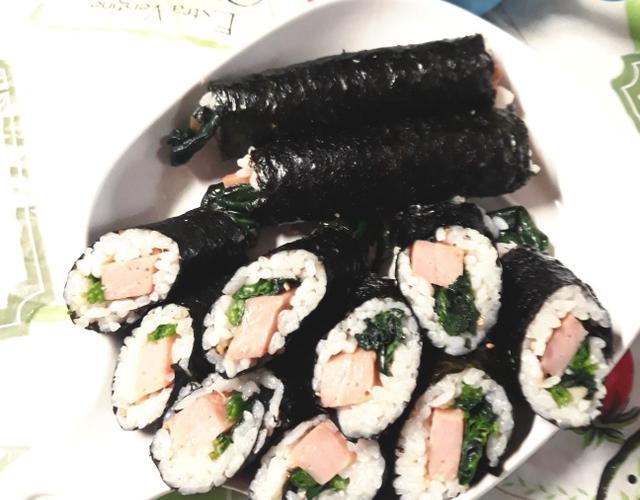 시금치햄꼬마김밥