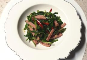 봄나물 부추 햄 볶음