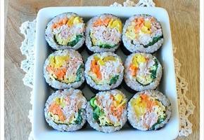 코가 찡해지는 와사비마요 참치김밥, 김밥