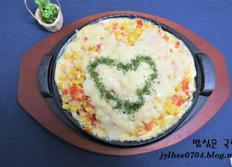 모짜렐라 슬라이스 치즈를 활용한 콘치즈