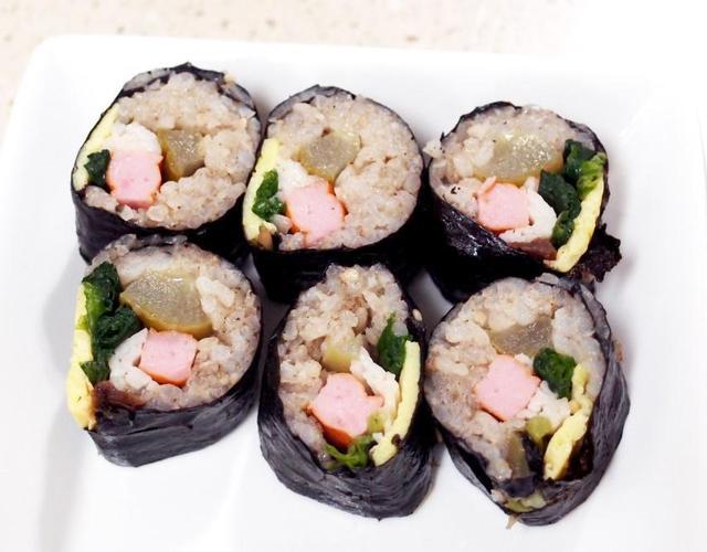오이지김밥