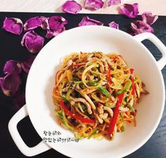 건강한식단- 오이&도라지잡채만들기!