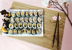 김밥 4종 세트 만들기.