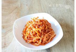 쫄깃 아삭한 식감이 맛있는 진미채 도라지무침, 도라지무침