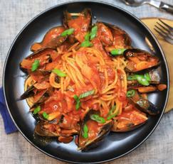 간단하면서 근사한 토마토 홍합 스파게티 레시피