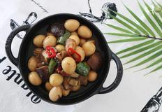 표고버섯 메추리알장조림 쫄깃하니 맛있는 밑반찬