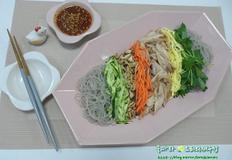 저칼로리 다이어트 닭요리/닭고기 비빔당면