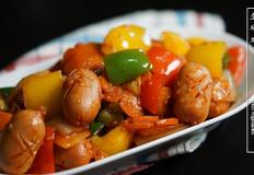 소세지야채볶음 / 쏘야볶음 (Stir-fried Sausage with Vegetables)