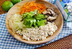 다이어트 비빔밥 만들기 : 두부 야채 비빔밥