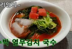수박 열무김치 국수