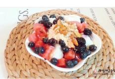 영양만점 우유 과일 팥빙수 만드는법