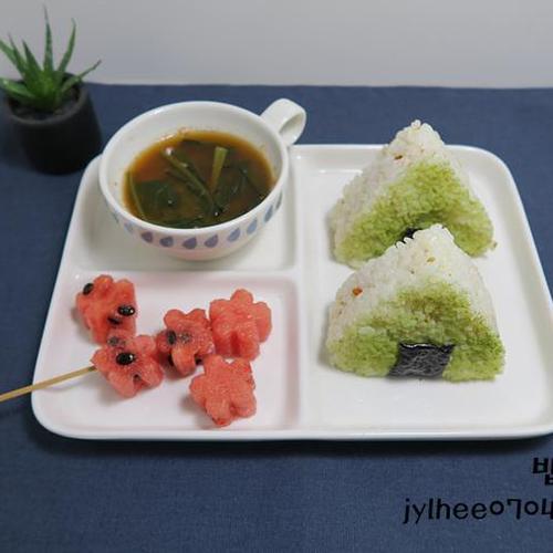 새싹귀리분말 진미채주먹밥
