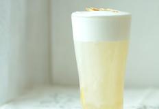 건강에 좋은 인삼 꿀 절임으로 만드는 밀크폼 인삼 레몬티 (레몬 인삼차) 쉬운 홈카페 레시피
