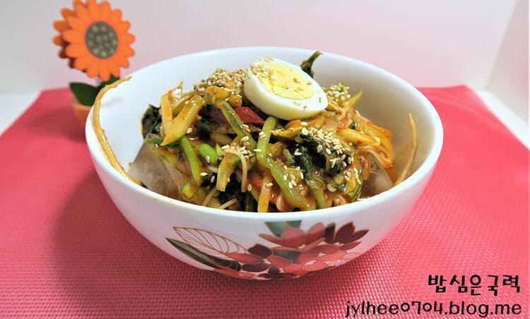 수미네반찬 열무김치 비빔국수