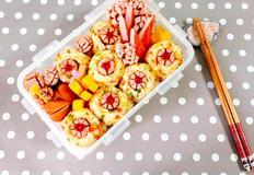 예쁜도시락~비엔나소세지꽃 주먹밥