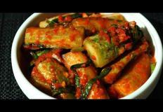 오이김치(cucumber kimchi) 삼계탕 맛집처럼 맛있게 만들기.