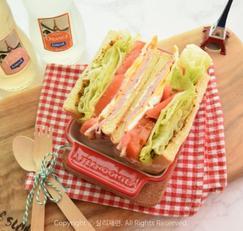 햄치즈 샌드위치 만들기 세상 맛있는 조합!