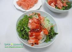 불 사용없는 간단 여름보양식/생 연어비빔밥