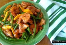 껍질콩 닭가슴살요리