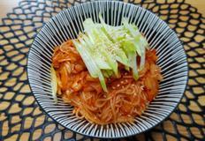 ♥[신혼밥상] 김치 송송 비빔국수
