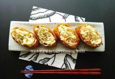 게살유부초밥. 와사비마요소스가 매력적인 유부초밥