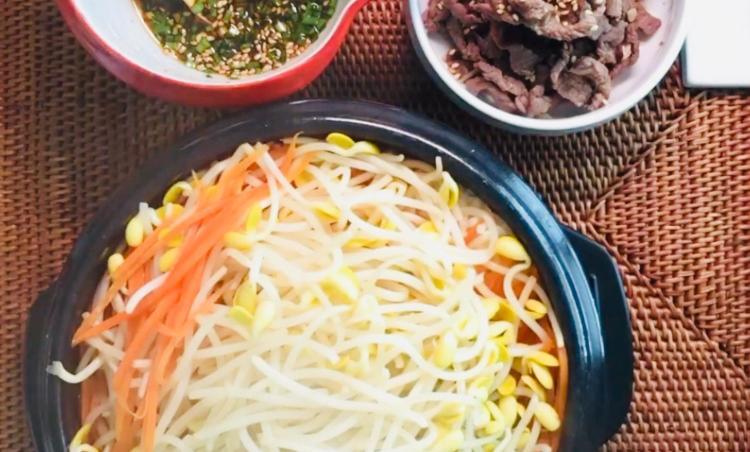 간단하고 든든한 한끼! 불고기콩나물밥