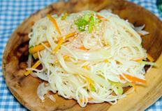 한 그릇 국수요리 : 간장 비빔국수 / soy sauce noodles