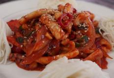 물기없고 매콤한 오징어 볶음 만드는 법, 오징어 볶음 소면 레시피
