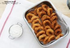 아이간식 오징어튀김 바삭한 오징어링튀김만들기 +초간단 튀김소스만들기