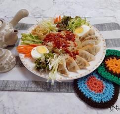 쫄면 야채 비빔만두 맛있게 만드는법