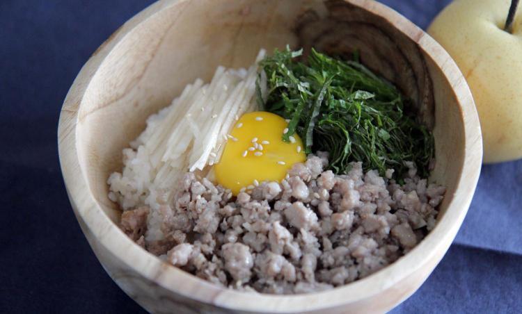 명절, 추석 선물 활용 요리 : 배 비빔밥 ( pear bibimbap )
