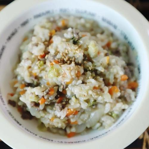 소고기 야채죽 유아식 만들기.