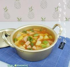 혼밥 간단찌개/스팸 고추장찌개