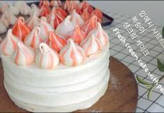 입에서 살살녹는 복숭아 생크림 케이크 | 안젤라 베이킹
